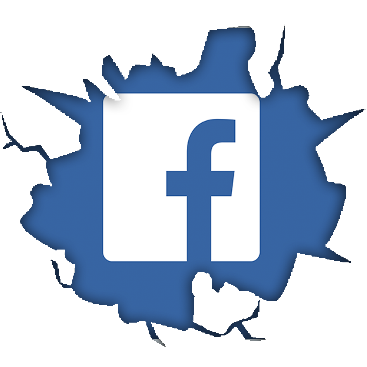 Cracked-Facebook-Logo-psd46992